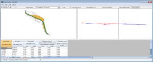calculate volumes from design road rail design module