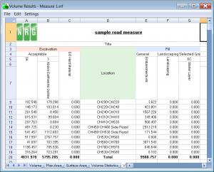 dtm map volume calculation between models