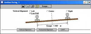 nrg survey software Road and Rail design module gauge horizontal vertical alignment cants and the position