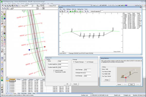 NRG Survey System DTM Map Module - Generating batter rails.