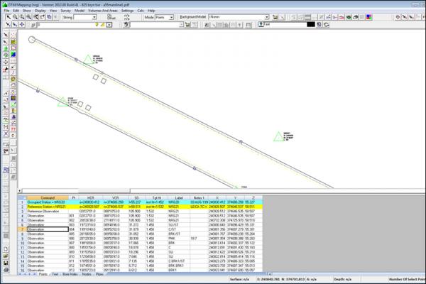 NRG Survey System DTM Map Module - Observation file format.