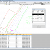 NRG Survey System DTM Map Module - Editing linework in a survey.
