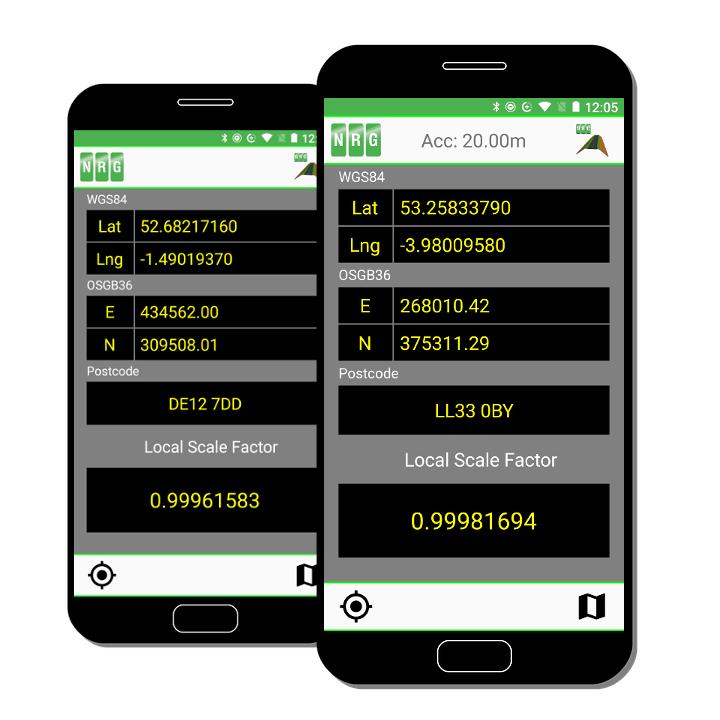 NRG Surveys Local Scale Factor app